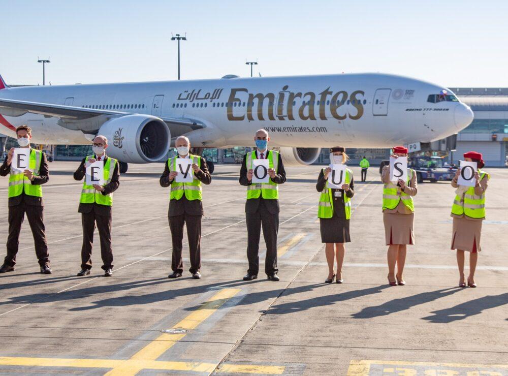 Emirates riapre alcun voli dopo stop Coronavirus