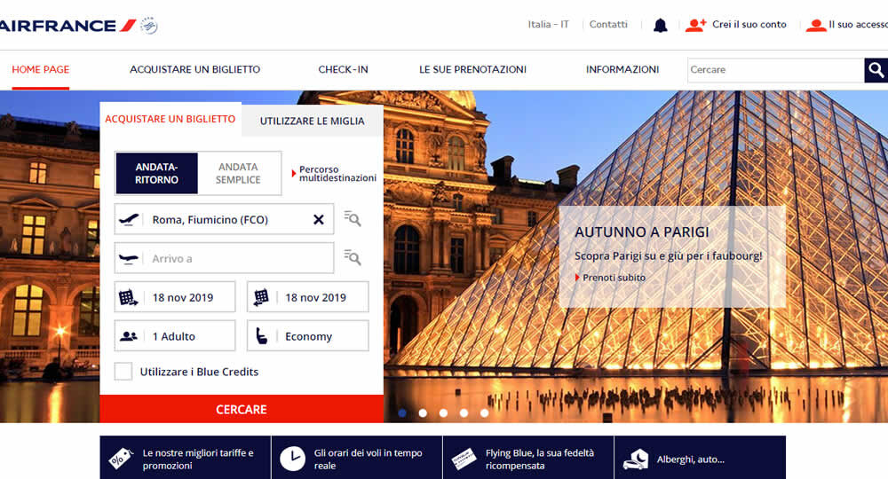 Check in online con Air France