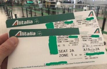Come richiedere ad Alitalia la fattura del biglietto aereo