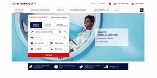 Correggere un biglietto Air France sbagliato