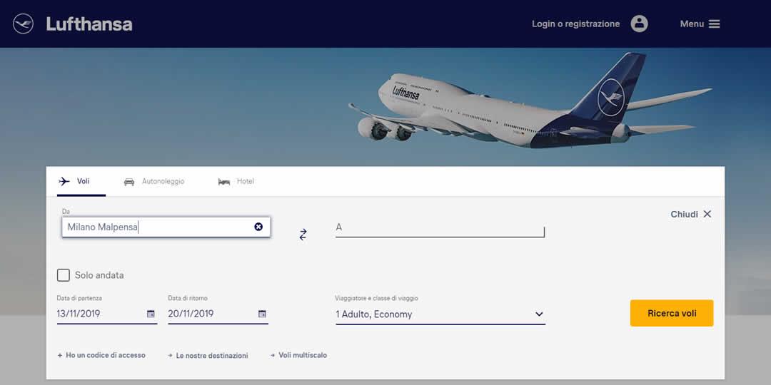 Come correggere un biglietto Lufthansa sbagliato