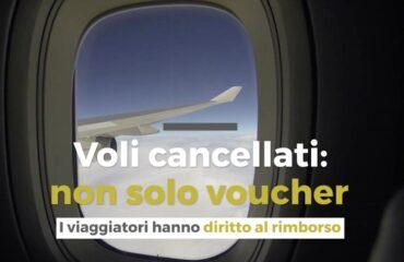 Ottieni il rimborso monetario anziché voucher in caso di volo cancellato per Covid-19