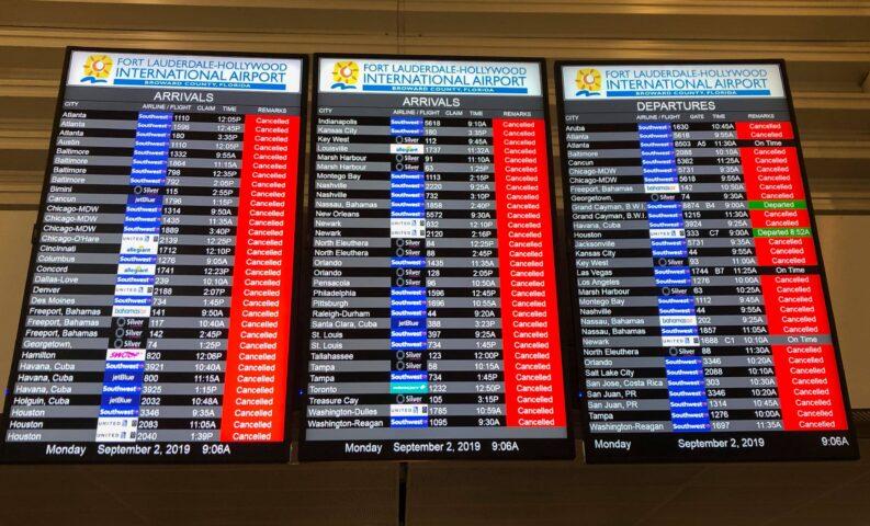 rimborso per volo internazionale cancellato